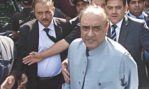 Zardari appears before NAB in two cases