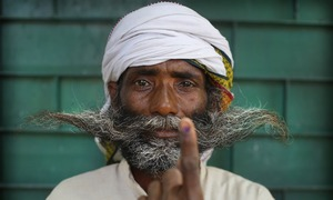 Vandalism, rigging reported during final round of voting in India's marathon elections