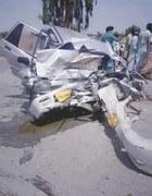 11 perish in head-on collision between two cars in Shikarpur