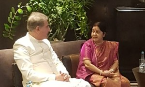 Qureshi, Swaraj hold 'informal dialogue' on sideline of SCO meet in Bishkek