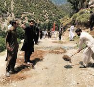 Doog Dara people start repair of main road