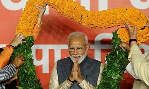 Modi begins talks for new cabinet after big election win