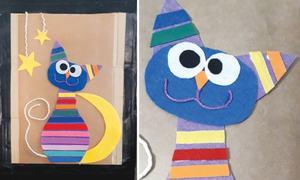 Wonder Craft: Kitty canvas