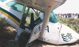 PIA's training Cessna damaged in emergency landing near Keti Bundar
