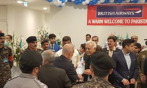 First British Airways flight to Pakistan in 11 years lands in Islamabad