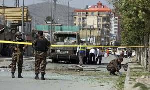 Five killed as govt bus hit in Kabul blast