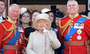 In pictures: Pomp, parade mark official celebration of Queen Elizabeth's 93rd birthday