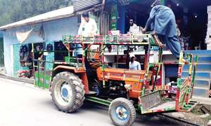 Modified tractors main source of goods transportation in Shangla