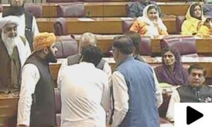 قومی اسمبلی اجلاس کے دوران شور شرابہ