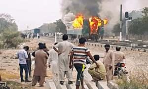 Jinnah Express dining car fire disrupts schedule