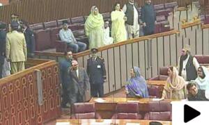 پروڈکشن آرڈر ملنے کے بعد آصف زرداری کی قومی اسمبلی میں آمد
