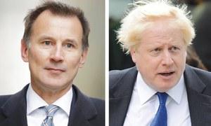Johnson faces Hunt in battle for Britain's premiership