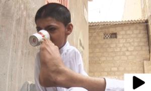 کراچی کا 15 سالہ معذور بچہ عزم و ہمت کی مثال بن گیا
