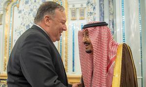 ایران سے کشیدگی، مائیک پومپیو کی شاہ سلمان سے ملاقات