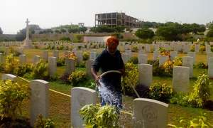 This Karachi cemetery is a memorial to fallen soldiers who fought in World War II
