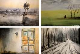 Paintings depict serenity, life in Kashmir