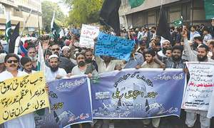 Traders protest against budget