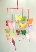 Wonder Craft: Paper butterfly wind chime