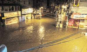 Heavy rain, hailstorm lead to flooding in downtown Rawalpindi