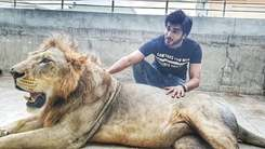 Imran Abbas responds to backlash after posing with a lion