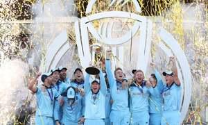 ورلڈ کپ ٹرافی کی کرکٹ کے گھر واپسی، انگلینڈ چیمپیئن بن گیا