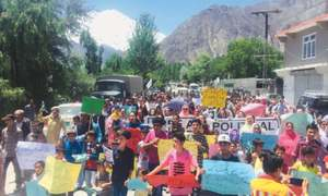 Hunza rally calls for release of political activists