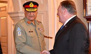 Army chief meets US state secy, military leadership in Washington