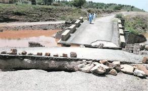 Broken bridge becomes nuisance for Kohat villagers