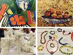 Children's artworks on environment inspire visitors