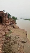 Erosion triggers collapse of three houses