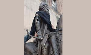 لاہور: مہاراجہ رنجیت سنگھ کا مجسمہ توڑ دیا گیا
