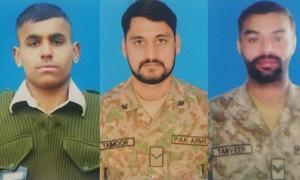 ایل او سی: بھارتی فوج کی فائرنگ سے شہید ہونے والے پاک فوج کے جوانوں کی تعداد 4 ہوگئی
