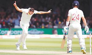 Hazlewood strikes on Ashes return to leave England wobbling