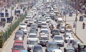 Peshawar road accidents kill two, injure 400