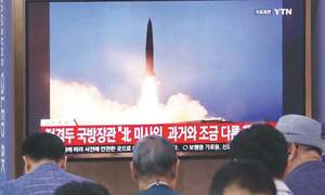 North Korea fires more projectiles, rules out talks with South