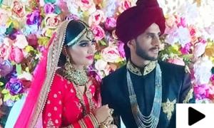 کرکٹر حسن علی اور سامعہ آرزو رشتہ ازدواج میں منسلک