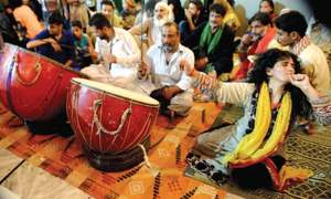 Hundreds gather at centuries old Shah Chan Charagh shrine to celebrate Urs