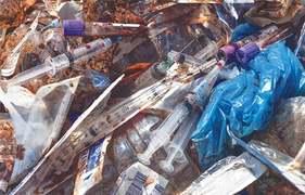 Medical waste being dumped around Abbasi Shaheed Hospital in Karachi
