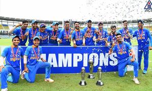 106رنز پر آؤٹ ہونے کے باوجود بھارت انڈر19 ایشیا کپ کا چیمپیئن بن گیا