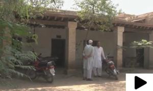 پشاور کے نواحی علاقے شیخان میں کھنڈر کا منظر پیش کرتا مرکزِصحت