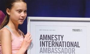 Thunberg wins Amnesty's highest human rights award
