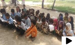 جھنگ کی تحصیل شورکوٹ میں ایک کمرے پر مشتمل گورنمنٹ پرائمری اسکول