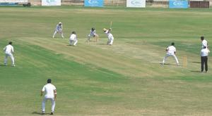 Ton-up Omair inspires Sindh's solid start against KP