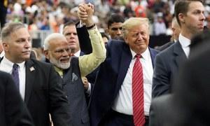 Trump, Modi show unity at Houston rally; protesters raise rights of Kashmiris outside venue