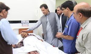 PM Imran briefed on earthquake losses, relief efforts on visit to Mirpur