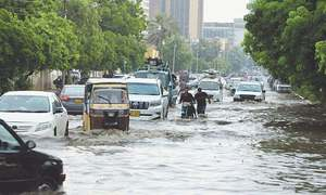Rains wreaked havoc on Karachi's sewerage system, causing lines to collapse at 170 points