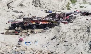 11 killed as bus overturns on Makran Coastal Highway