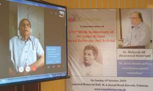 Theosophist Annie Besant remembered on her birthday