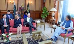 وزیر اعظم  نے امریکی سینیٹرز کو مقبوضہ کشمیر میں بھارتی مظالم سے آگاہ کردیا