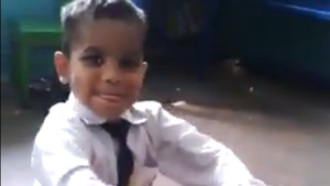 Everyone's obsessed with this baby who plays the tabla really well. Like, really well